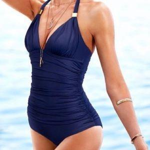 VICTORIAS SECRET Forever One-Piece Halter Swimsuit